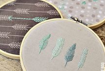 Hoop Wall Art Ideas for Swap at A Crafty Fox / DIY Ideas for Fabric Handmade Wall Art Projects