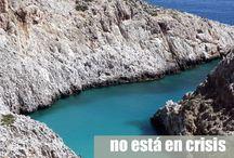 Playas de Creta / Las playas de Creta, sobre todo las del sur son paraísos en muchos casos casi desiertos. Playas para todos los gustos: familiares, recónditas, de arena, de piedra, con cuevas, con acantilados... pero todas con algo en común: aguas cristalinas y colores impresionantes.