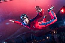 Ifly Dubai / Experience the world's first double skydiving stimulator, technology that has made flying easier than ever. Put on your sky diving suit and after a brief explanation head into the tunnel and begin flying.