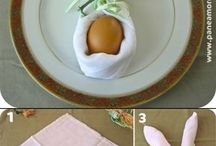Napkins+table setting