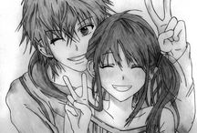 funny relationship / anime art