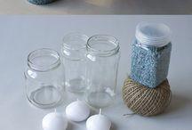 Tarros de cristal con velas