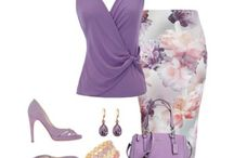 Work outfits - purple