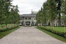 Hampton's Home / The house I'd build in the Hamptons, complete with Oval Office and man-cave behind the opening bookshelf.