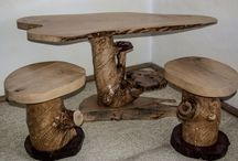 "Rustic Handmade Coffee Set ""Cherry"" / www.natureistheartist"