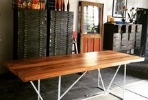 Custom industrial furniture. / Check out our custom designed furniture.