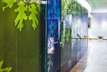 Porte Osmose / Porte bi-affleurante épaisseur 79mm en cadre alu vitrée ou porte pleine stratifiée