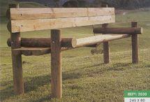 Bancos de madeira jardim