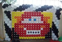 Painel com balões