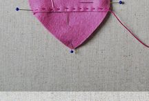 Felt Heart Candy Envelope