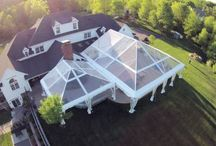 Drone tent photos / Here is a collection of event photos we took with our DJI Phantom drone