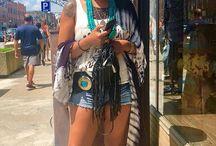 Bohemian Inspired Fashion Kimonos, fringe, turquoise,hats, concho belts #summerfashion #chunkyarmadillo