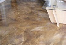 Staining concrete floors