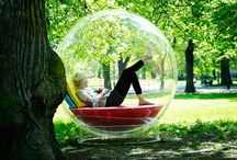 In my own bubble. / Relaxing