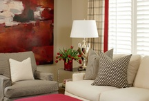 Red and grey sitting room