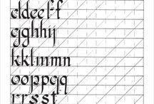 шаблоны для каллиграфии