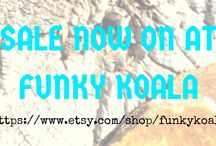 Funky Koala Shop ON SALE! / Items on sale now at Funky Koala!