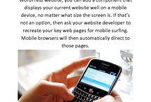 I have a web site....why do I need a MOBILE web site? / Samples of mobile web sites and 10 reasons why it's best for your business to have one!