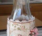 decorative jars/bottles / by Cathy Bizri