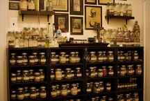 Apothecary / Inspiration from vintage and modern apothecaries to create your own corner to store herbs and ingredients.