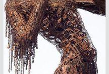 Sculture metalli riciclati / L'arte del riciclo: Sculture figurative con metalli riciclati