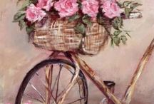 Gail Mc Cormack / Love the soft femininity of this Art. The colours and it's Shabby Chic ! Simply Beautiful !