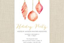 Corporate Christmas party invitations / Corporate Party invitations, ideas and more. Company Christmas parties, Holiday Parties from Brown Paper Studios