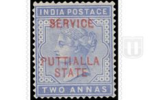 British India - Convention State  - Stamps of Patiala Official