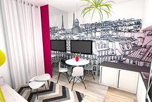 avant après decoration studio architecte décorateur / L'agence E-interiorconcept vous propose un studio avant/après.