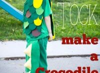 crocodile kids outfits 7- 8 years old / Do it yourself crocodile outfit