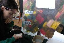 In the studio / The creative process...