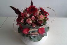 FE groendecoraties / zelf gemaakte bloemstukken