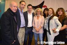 Dirigentes del Partido Popular en la Feria de Abril