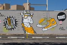 Street Art / Graffiti, Murals, Stencils, if you can see it walking down a street, it goes here.