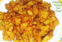 Cauliflower Yogurt Dry Curry - Quick Recipe