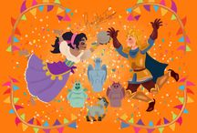 Disney the Hunchback of Notre Dame Esmeralda and Phoebus