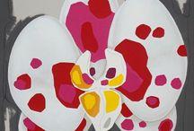 Orchidee in arte - autore Andrea Mattiello per Livin'art
