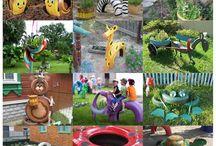 kerti játékok és dekorációk
