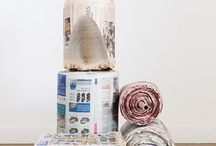 NewspaperWood / NewspaperWood, material designed by Studio Mieke Meijer (photography Raw Color)