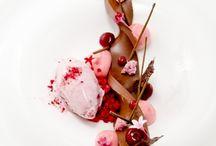 Beautiful chefs' desserts