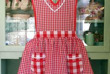Aprons Aplenty / Lots of patterns and ideas for that most useful piece of clothing - the lowly and lovely APRON / by Suzy Stanford