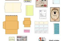 printies school / office / different prints for 1:12 school and or office