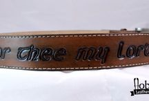 Leather belts / Some  leather belts I made :)