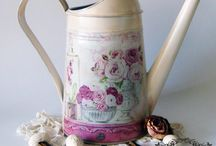 watering can decoupage