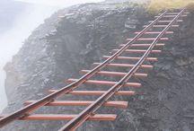 Suspended rail