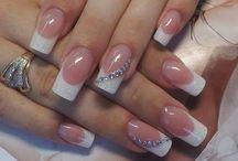 french&wedding nails