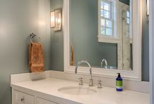 Our White Bathrooms / Marble Tile