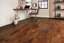 """Cottage Creek Collection / Like time-worn hardwood floors, the subtle scraping and chatter marks of the Cottage Creek Collection add to its character and charm. With 5"""" wide planks, rich stain colors, and a low gloss finish, Cottage Creek creates a unique aesthetic that brings warmth and beauty to any room."""