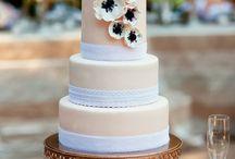 Wedding cake peach