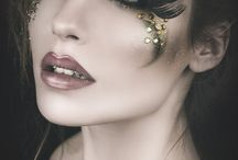 glitter/stone make up